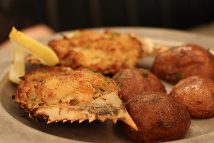 stuffed crabs at Arnaud's Remoulade restaurant in New Orleans Louisiana