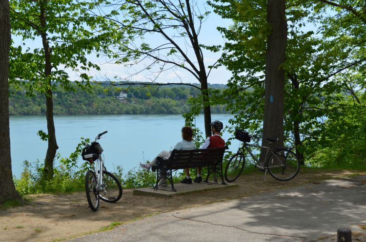 biking on niagara river recreational trail