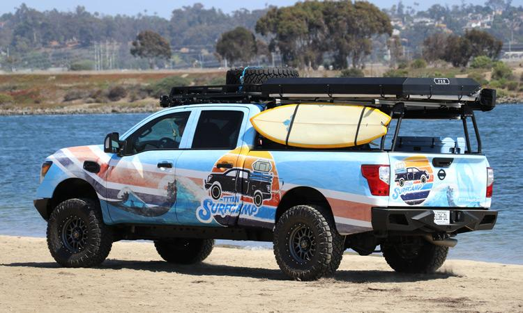 Inside the Nissan Titan Surfcamp Lifestyle Concept Vehicle
