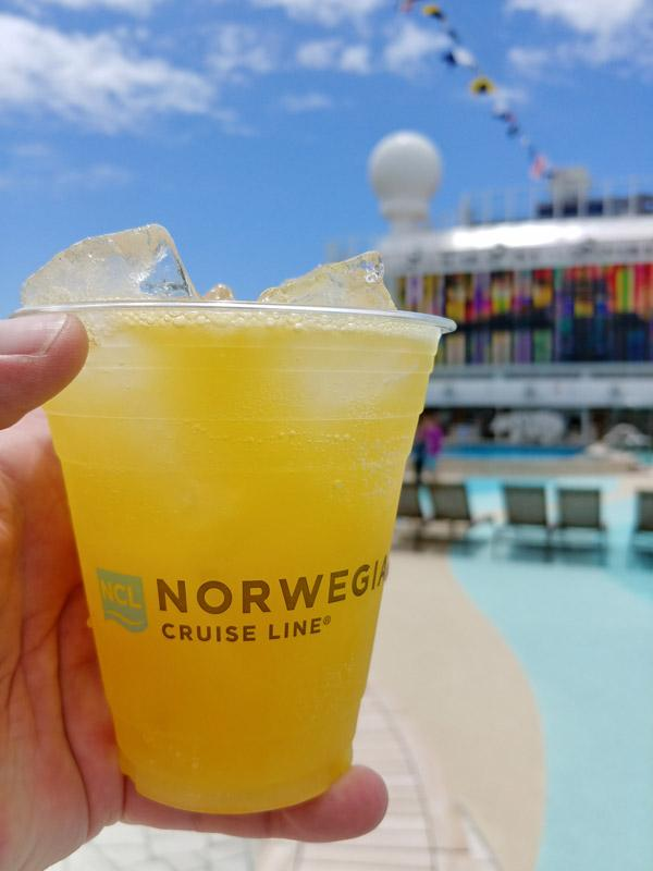 drinks on norwegian cruise line bliss