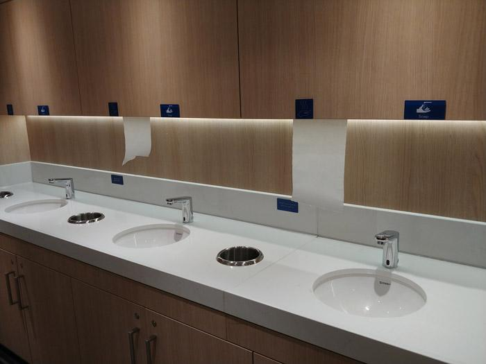 hand washing station by buffet on norwegian bliss