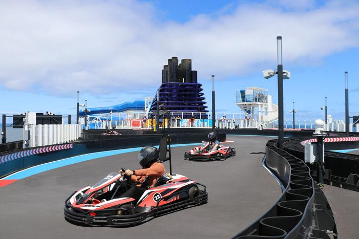 racing go karts on norwegian bliss cruise ship