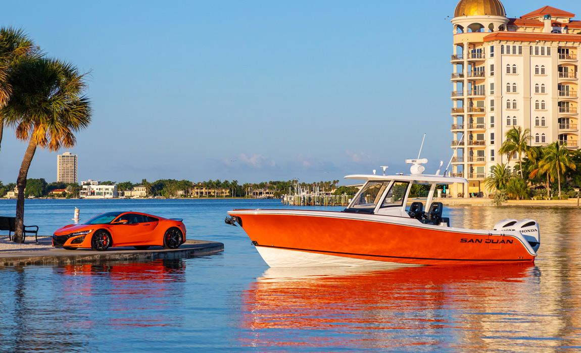 A Fishing Boat Inspired By The NSX - Yes Please!