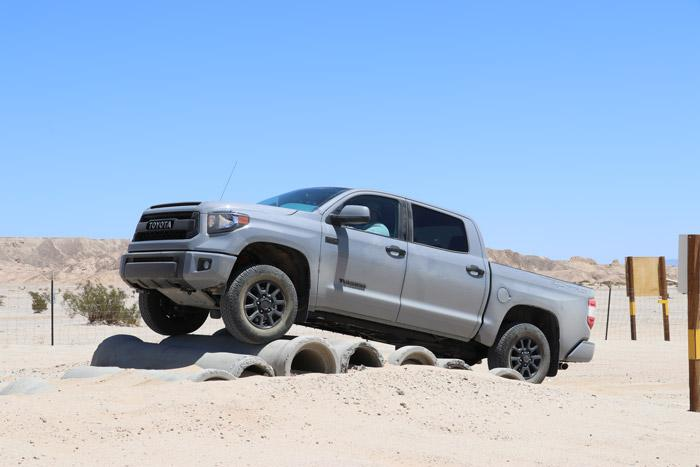 trd pro tundra on pipes obstacle