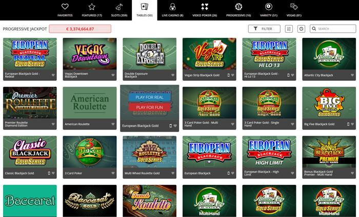 royal vegas casino free table games