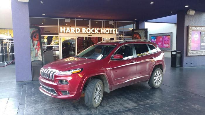 hard rock hotel palm springs valet jeep cherokee