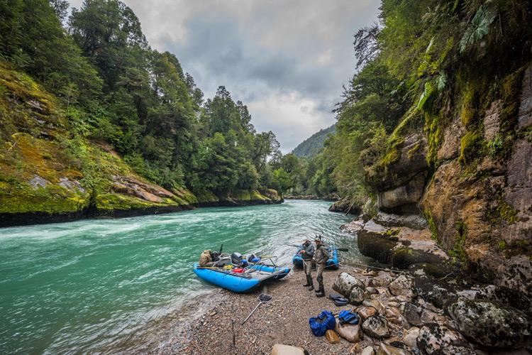 fishing in patagonia chile by catarafts