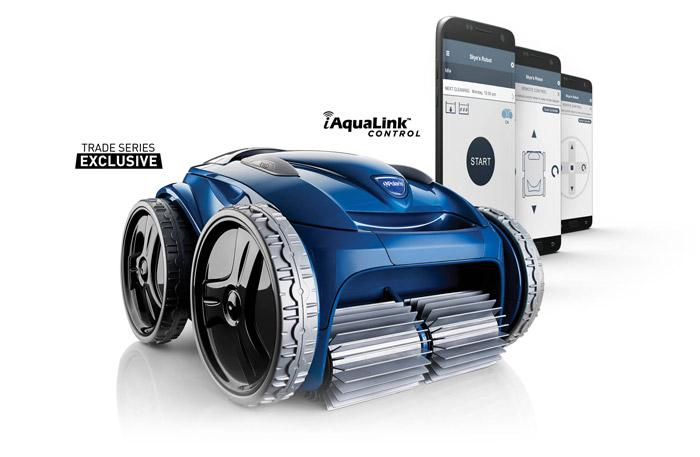 polaris9650iq robotic pool cleaner with iaqualink app