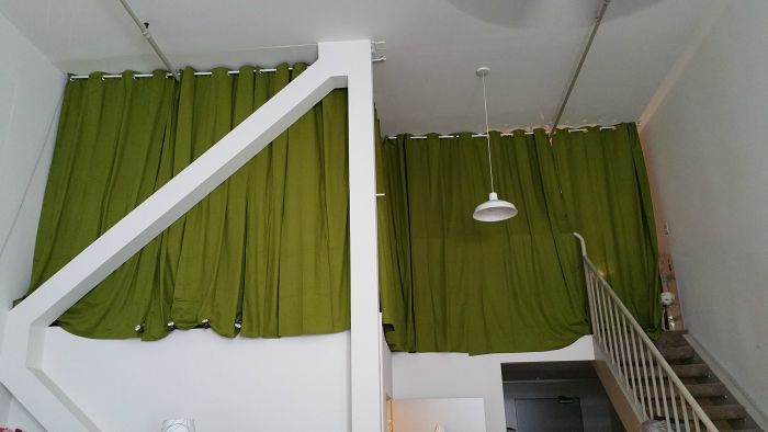curtains in loft