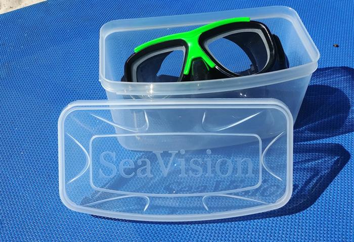 sea vision ultra dive mask in protective box