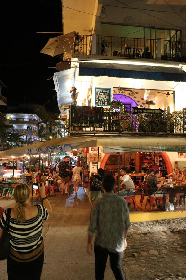 exploring the night life in puerto vallarta mexico