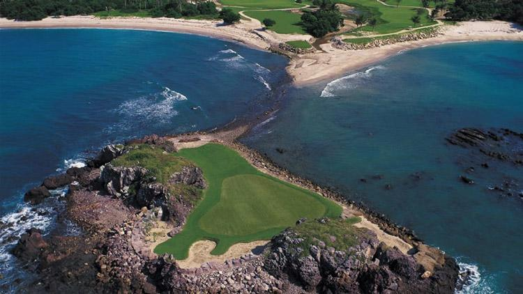 hole three at pacifico golf course four seasons punta mita near puerto vallarta mexico