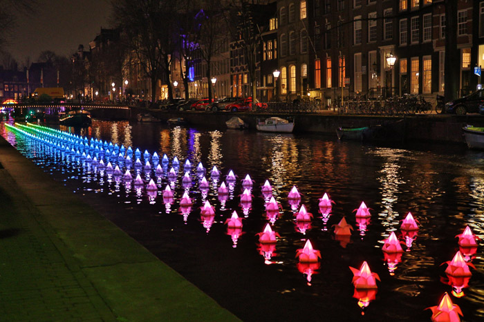 lighted displays in canals