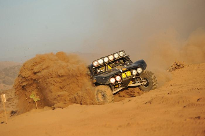 racing in baja