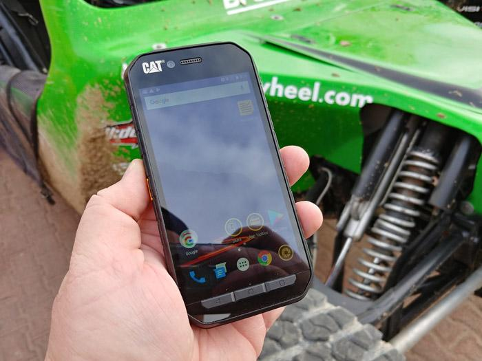 cat s41 phone did not break even when off road racing in baja