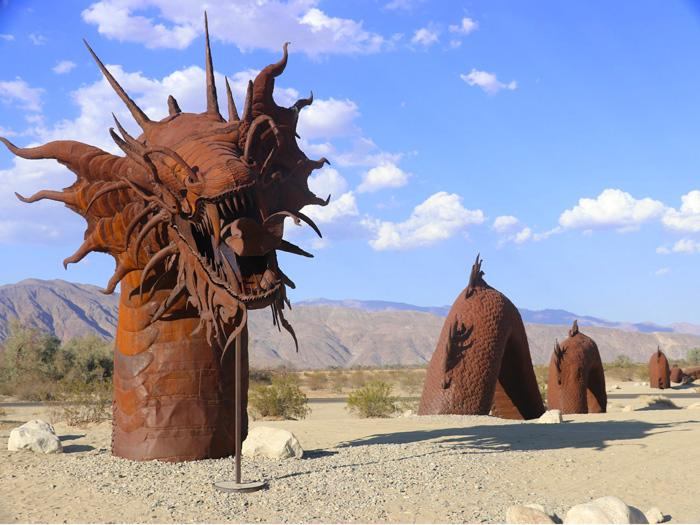 giant sea serpent galleta meadows borrego springs california