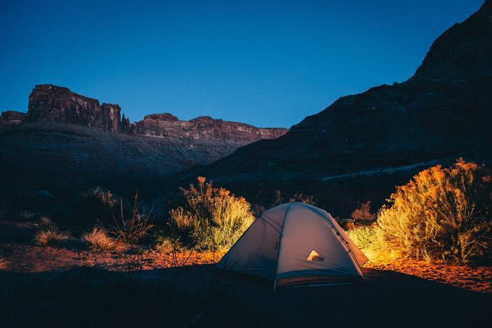 camping off the grid is another great way to get away from distractions of modern technology and get a great night sleep