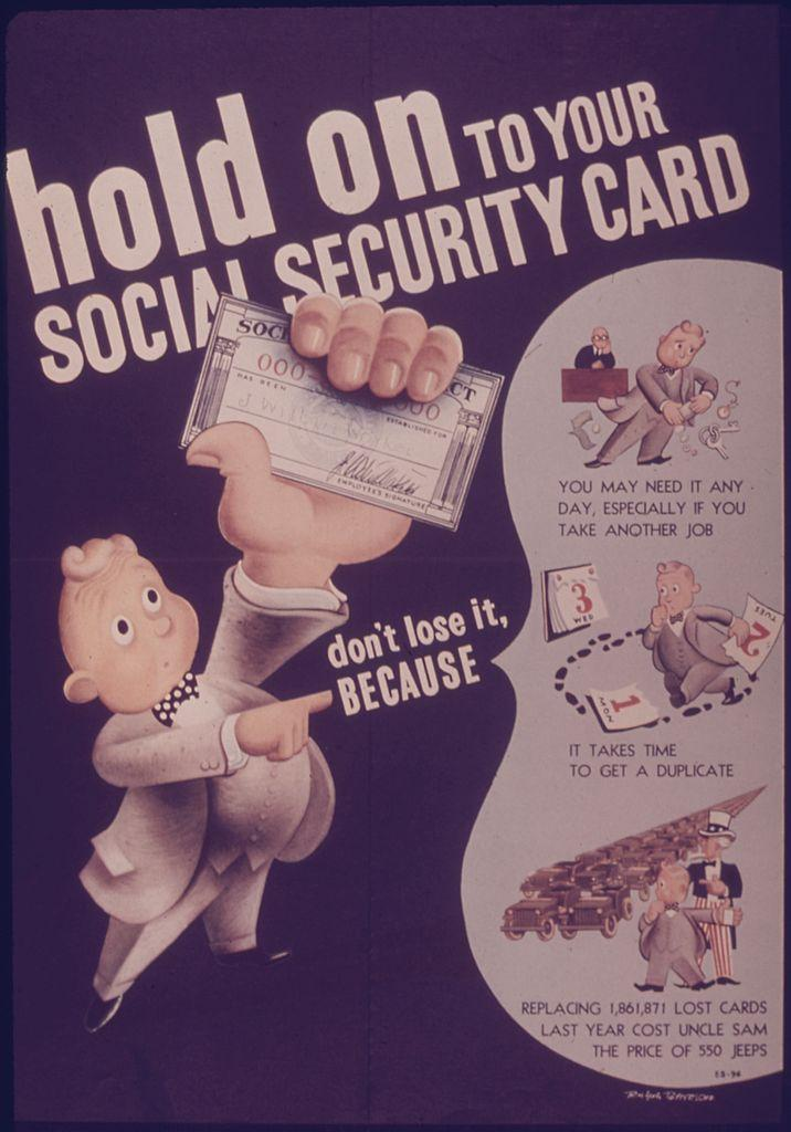 hold on to your social security card historical poster