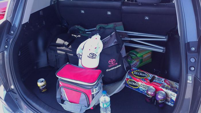 tailgating trunk rav4