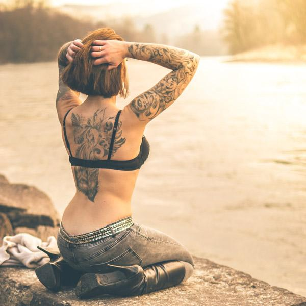 tattoo woman on the water