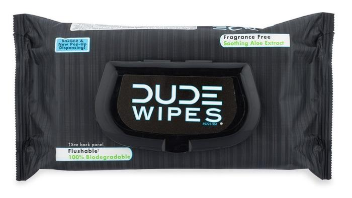 dude wipes to help men keep clean down there