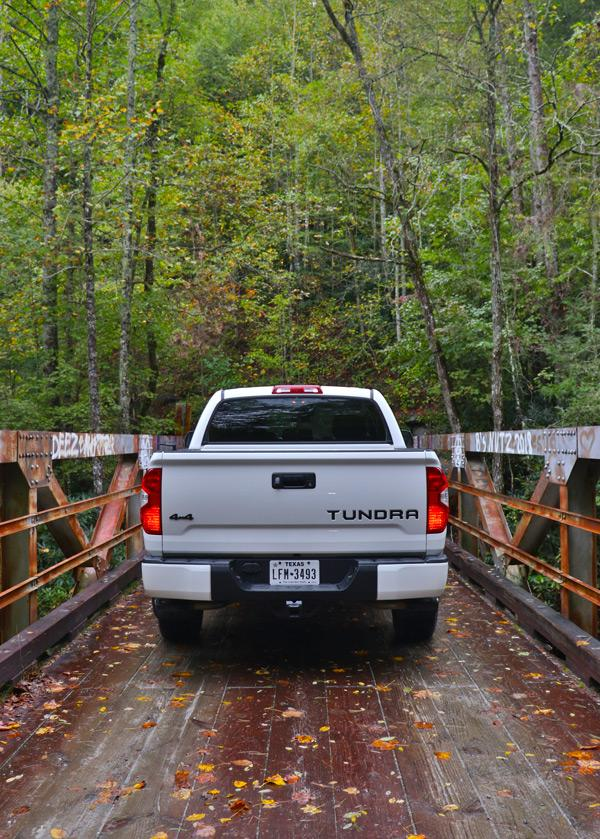 tundra trd pro on bridge