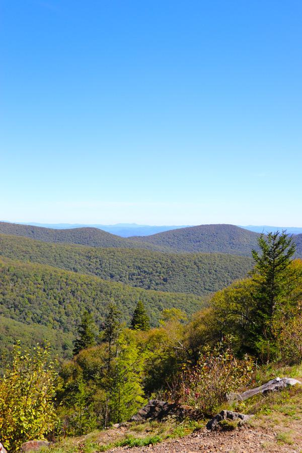 view from blue ridge parkway north carolina