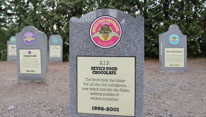 flavor graveyard at ben and jerrys