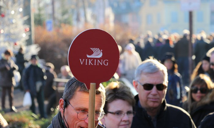 viking tour guide sign