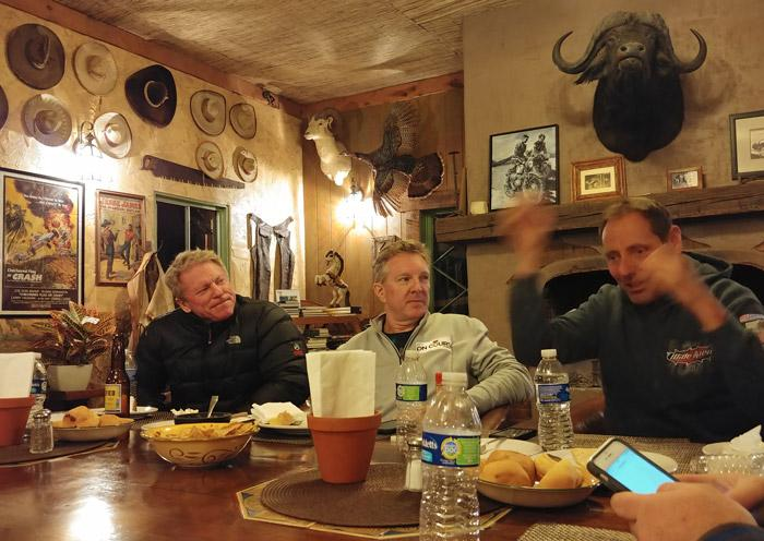 dinner at horsepower ranch ensenda mexico