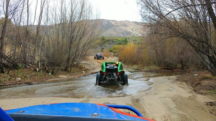 fording a mountain stream in baja