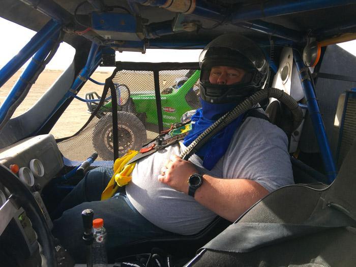 james in race seat wide open baja race car