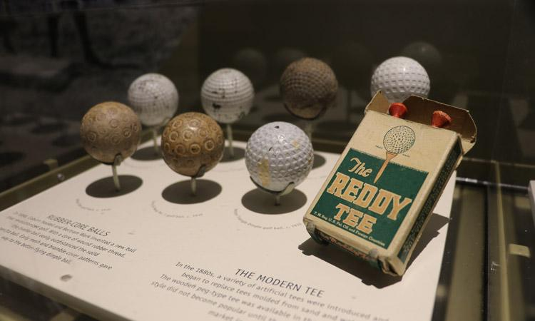 evolution of golf balls tee