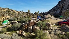 Camping at Joshua Tree