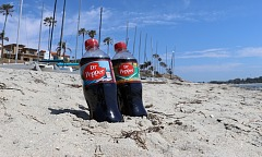 Dr Pepper in the Sand