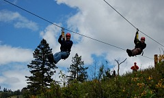 Zipline adventure for Father and Son in Southwest Idaho