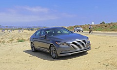 Hyundai Genesis on the Beach