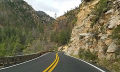 Driving in the Arizona Mountains
