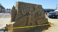 Road to Rio Sand Sculpture
