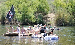 Tubing on Salt River in Phoenix Arizona