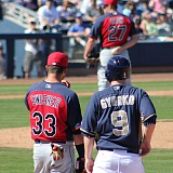Nick Swisher and Jedd Gyorko at First Base in Peoria