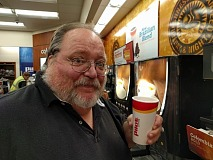 jim tasting coffee