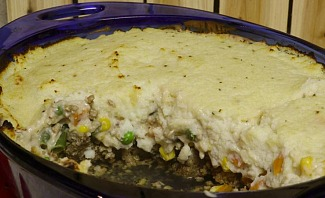 Mashed Cauliflower Shepherds Pie Recipe