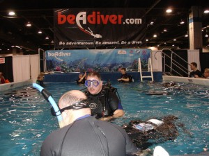 Be a Diver in the Dive Tank